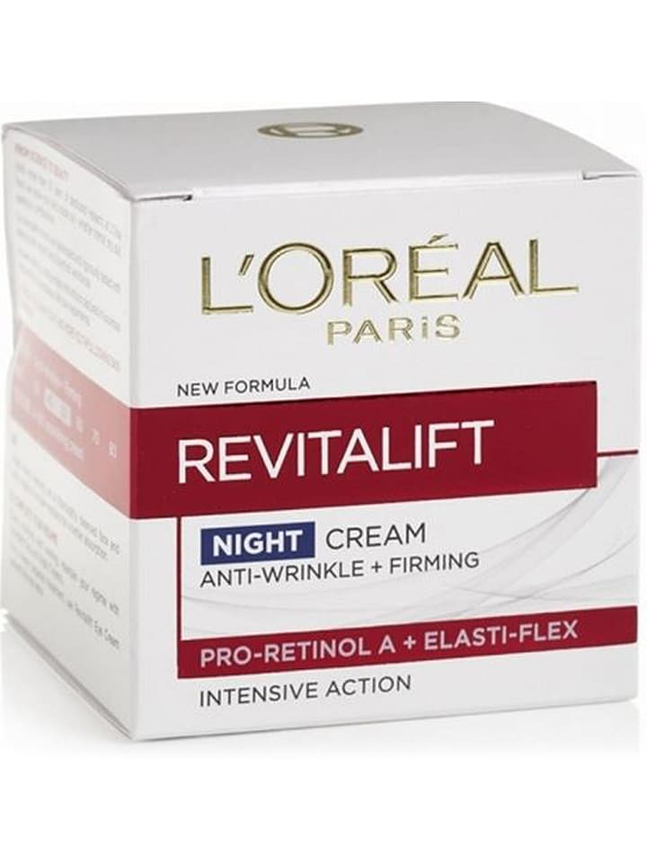 "L'Oréal Krem przeciwzmarszczkowy ""Revitalift"" na noc - 50 ml"