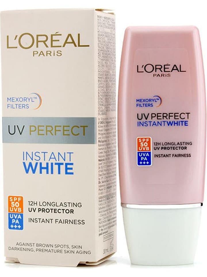 "L'Oréal Sonnencreme ""UV Perfect Instant White"" - LSF 50, 30 ml"
