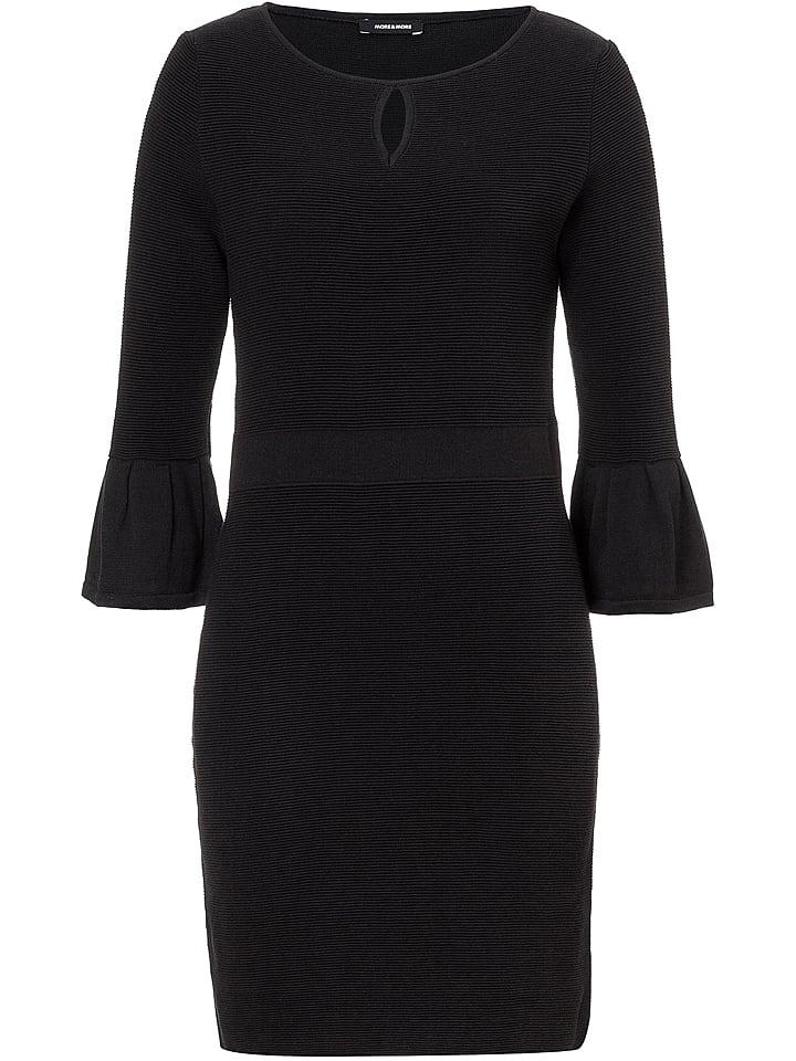 More & More Sukienka dzianinowa w kolorze czarnym