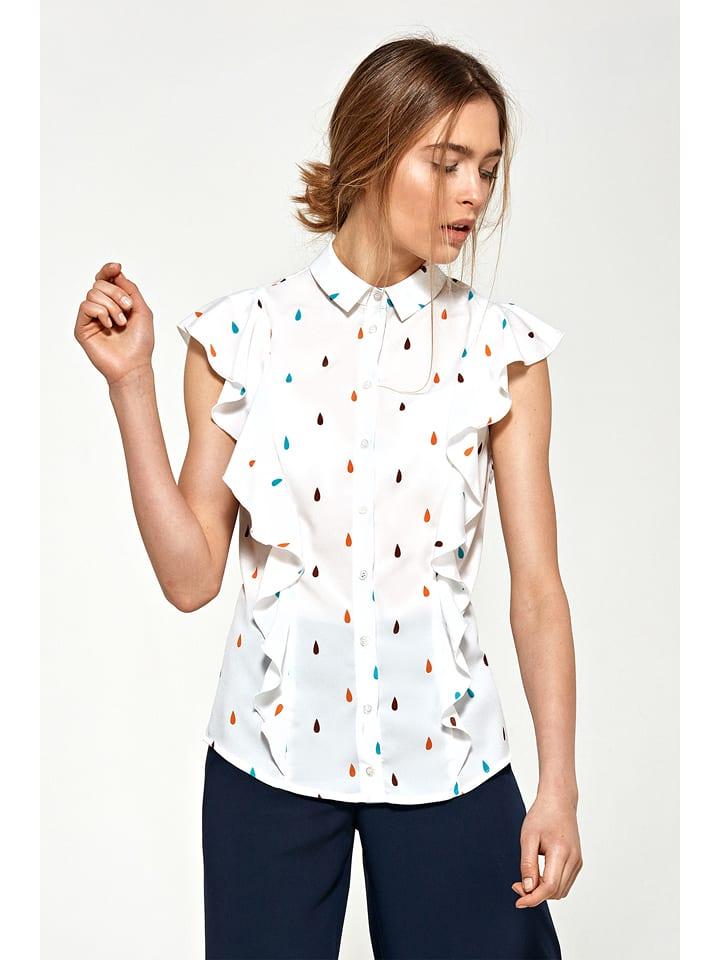 Nife Koszula w kolorze białym ze wzorem