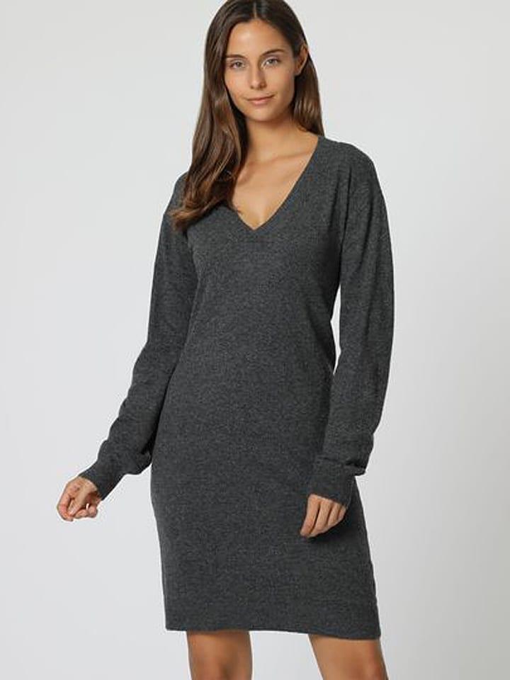 C& Jo Sukienka w kolorze antracytowym