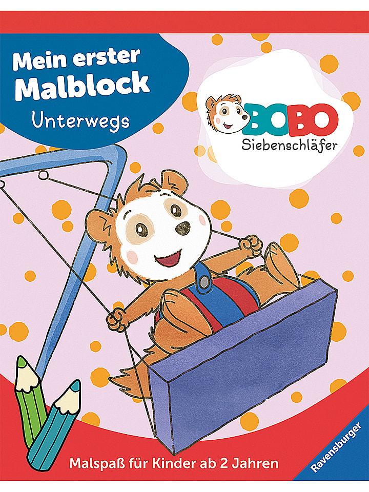 Ravensburger Malblock Bobo Siebenschläfer: Unterwegs - 25% | Kinderbuecher