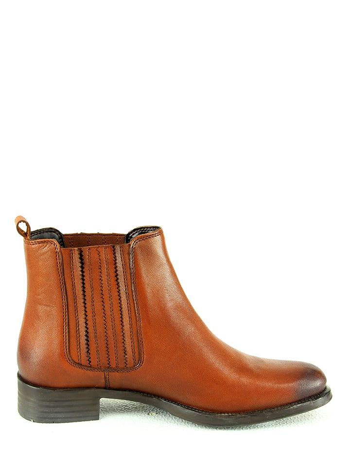 9d3639a207924d Manoukian shoes - Leder-Chelsea-Boots in Hellbraun