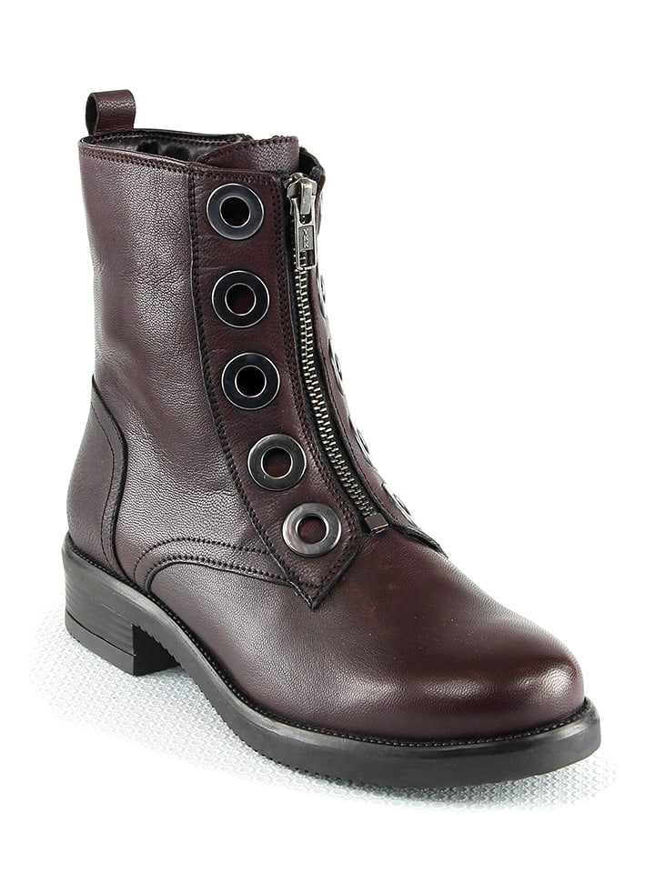 Manoukian shoes Leder-Boots in Rot