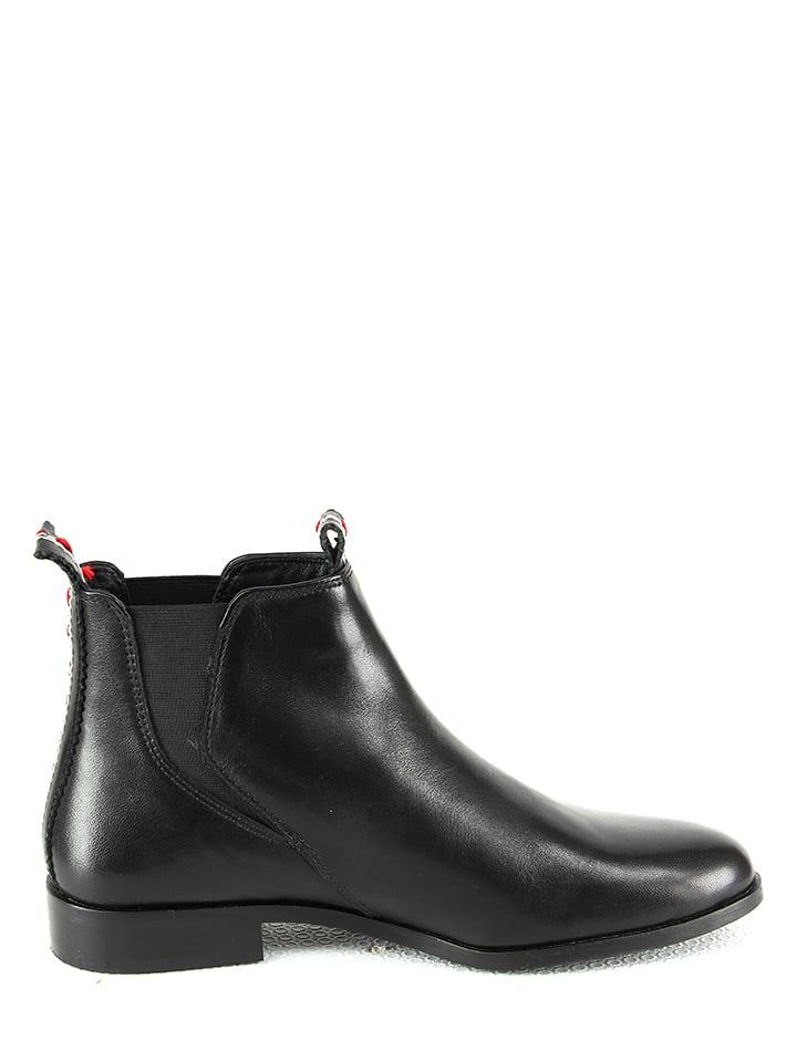 Manoukian shoes Leder-Chelsea-Boots in Schwarz