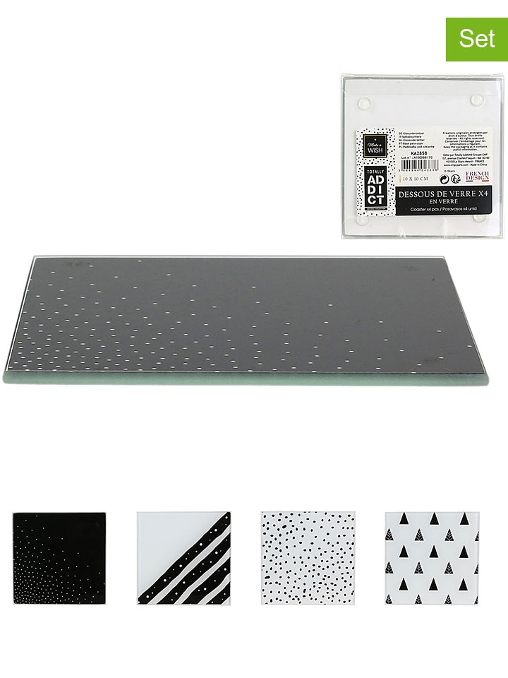 Make a Wish 4er-Set: Untersetzer - (B)10 x (T)10 cm (Überraschungsprodukt) - 68% | Aufbewahren servieren