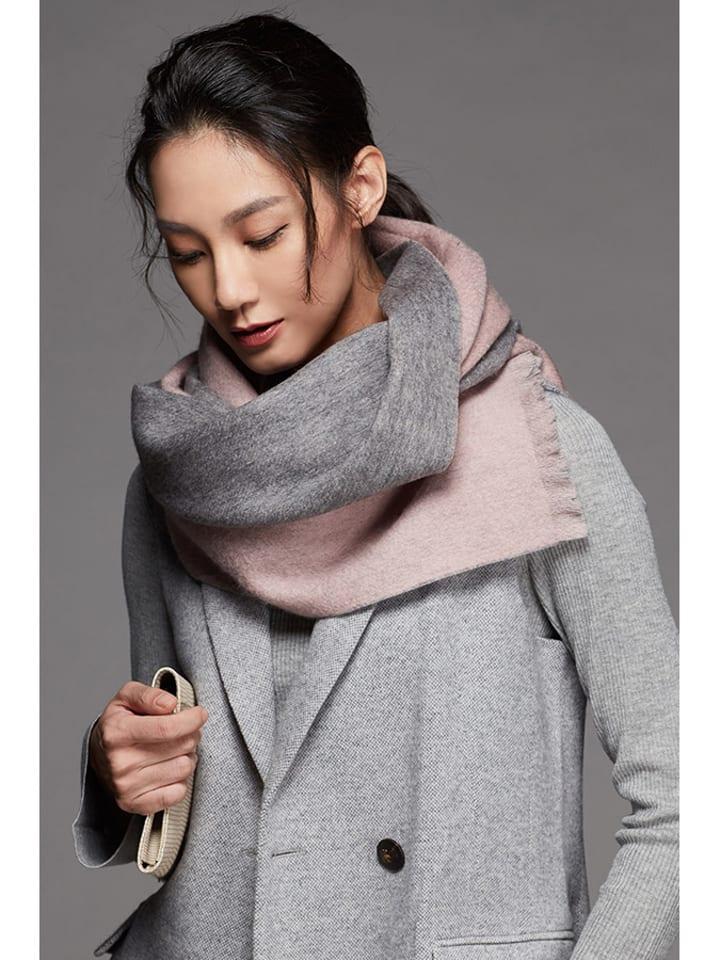 Alissa Cyrine Szal w kolorze szaro-różowym - (D)180 x (S)52 cm