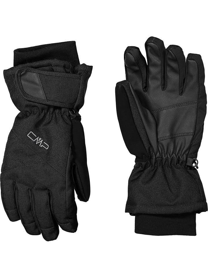 CMP Rękawice narciarskie w kolorze czarnym ze wzorem