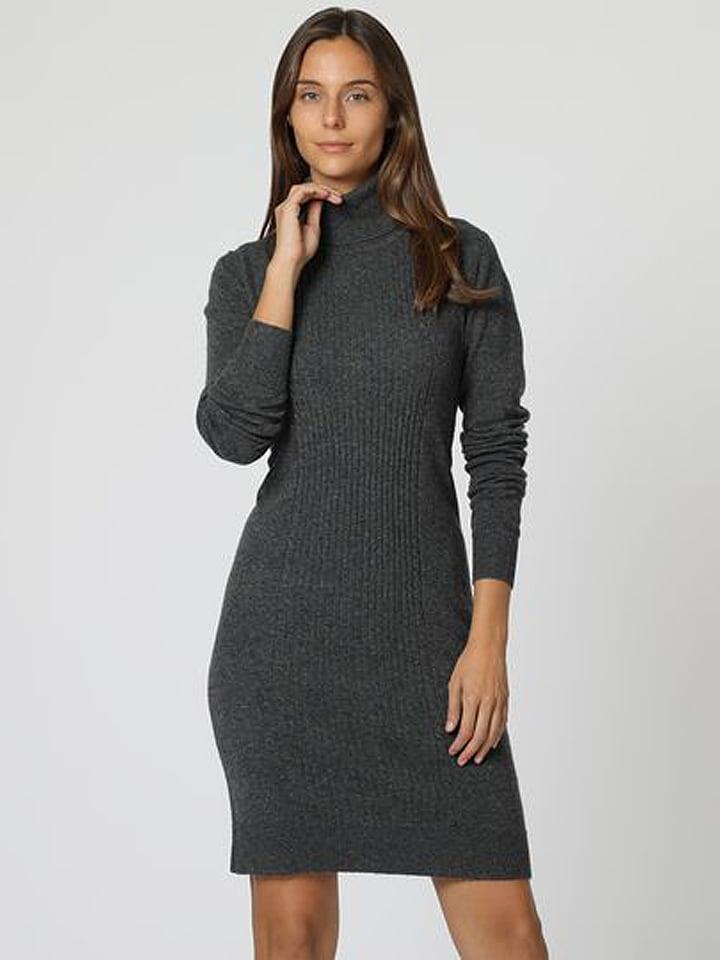 ASSUILI Sukienka w kolorze antracytowym