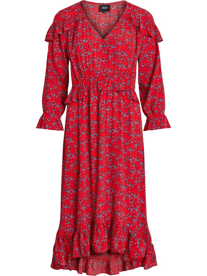 Object Sukienka maxi w kolorze czerwono-błękitnym