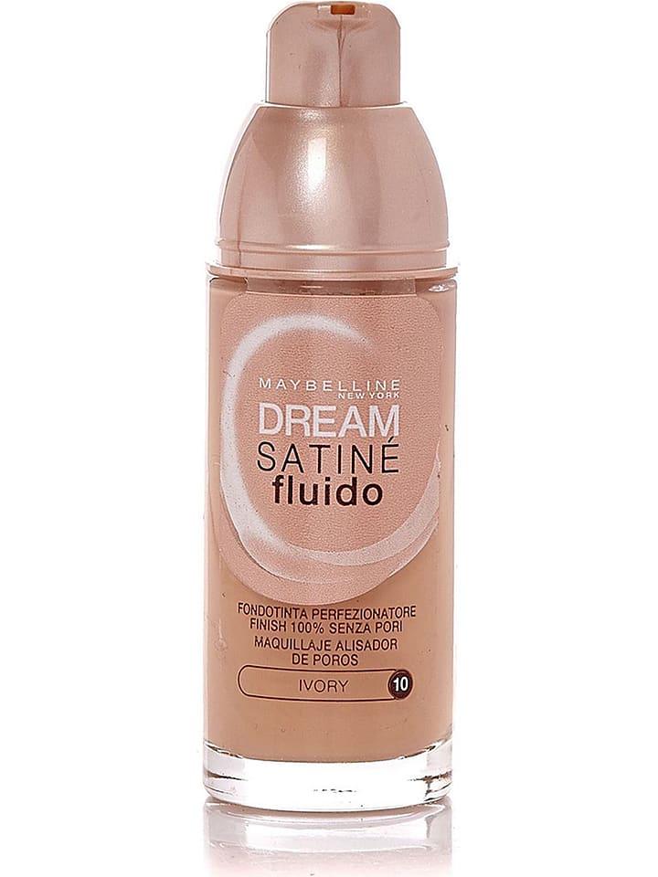 "Maybelline Foundation ""Dream Satin Fluid - 10 Ivory"", 30 ml"