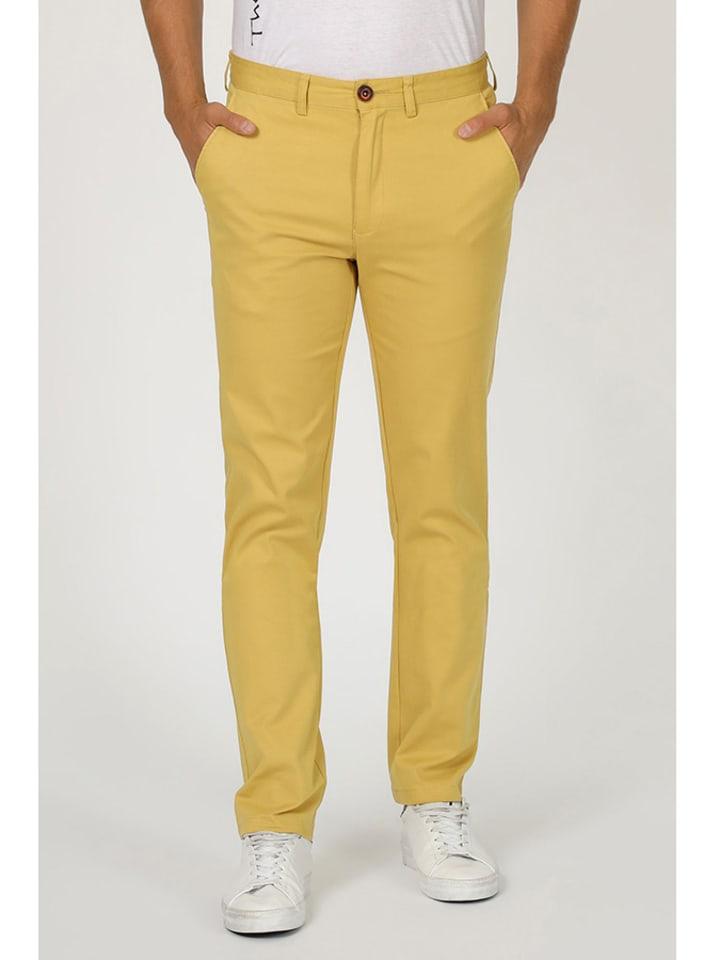 The Time of Bocha Spodnie w kolorze żółtym
