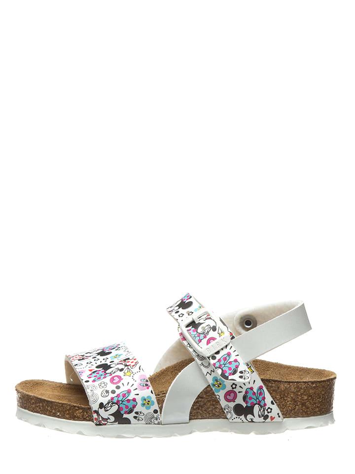"""Birkenstock Sandały """"Isabella"""" w kolorze białym ze wzorem"""