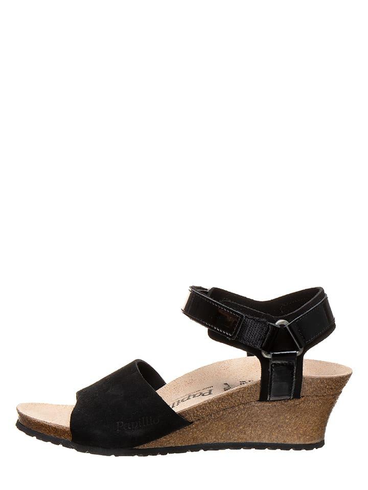 "Birkenstock Leder-Sandaletten ""Eve"" in Schwarz - Weite S"