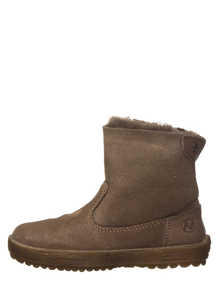 """Naturino Leder-Boots """"Can"""" in Taupe"""