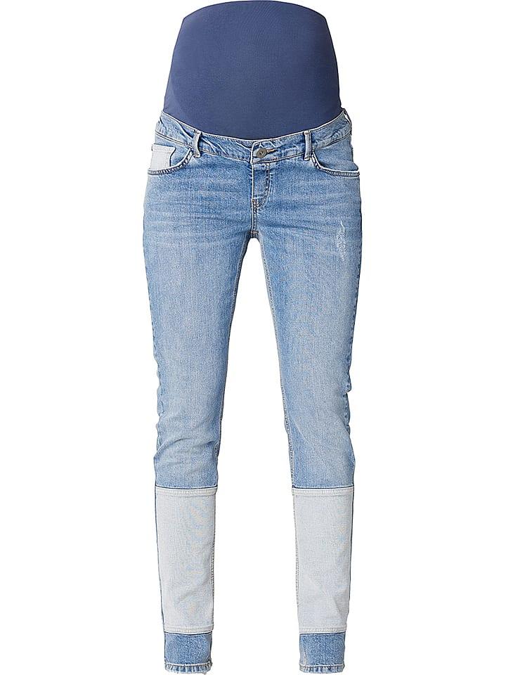 Noppies Dżinsy ciążowe - Boyfriend fit - w kolorze błękitnym