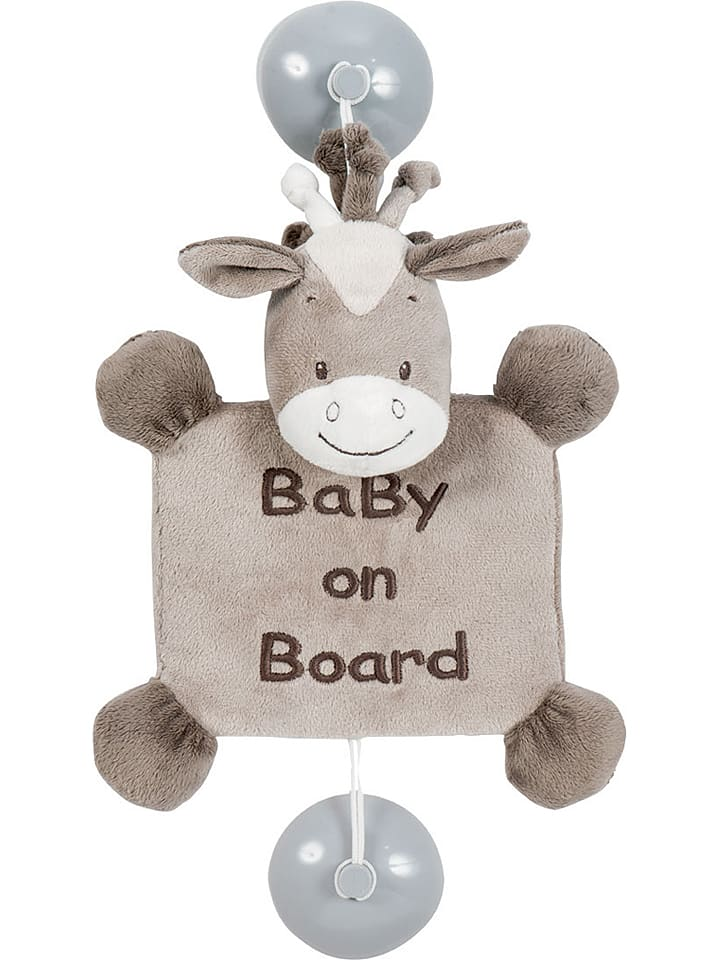 "Nattou Saugnapf ""Baby on Board"" in Braun - (L)32 x (B)19 cm"