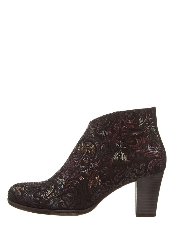 Lazamani Leder-Ankle-Boots in Bunt