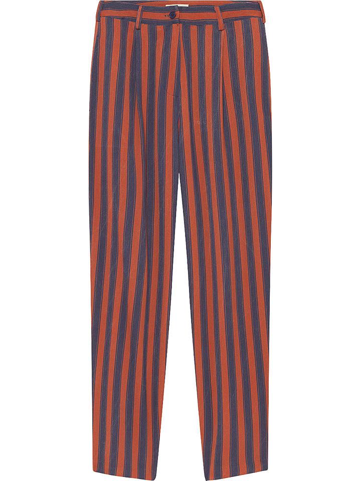 American Vintage Spodnie w kolorze czerwono-granatowym