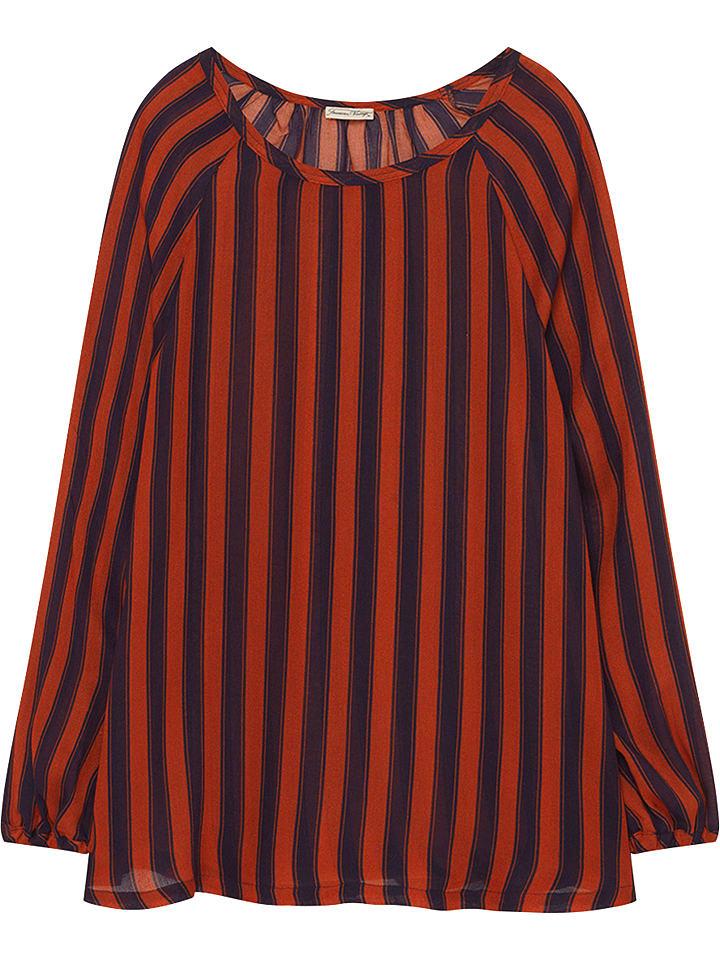 American Vintage Bluzka w kolorze czerwonobrązowo-czarnym