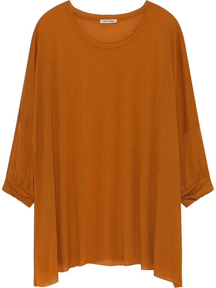 American Vintage Koszulka w kolorze brązowym