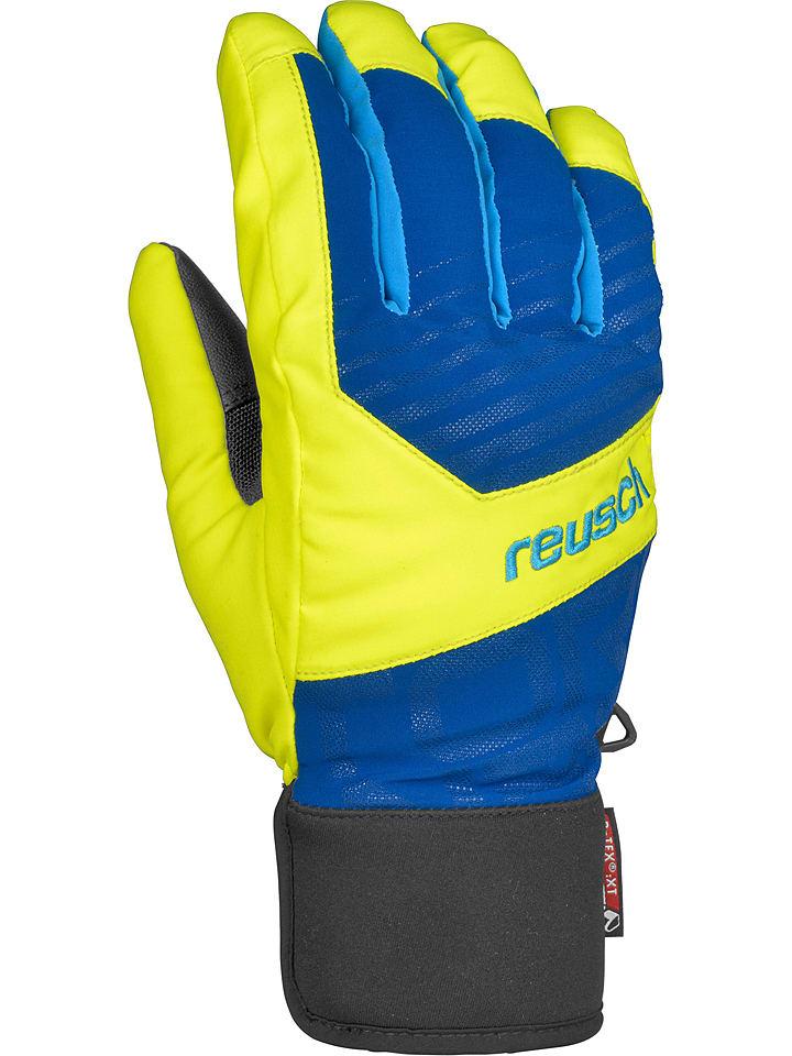 """Reusch Rękawice narciarskie """"Torbenius R-TEX® XT"""" w kolorze żółto-niebieskim"""