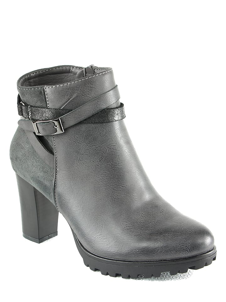 Sixth Sens Ankle-Boots in Grau