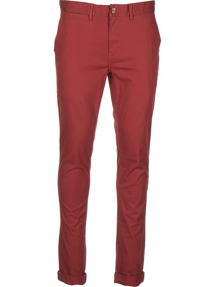 Ben Sherman Spodnie chino - Skinny fit - w kolorze czerwonym