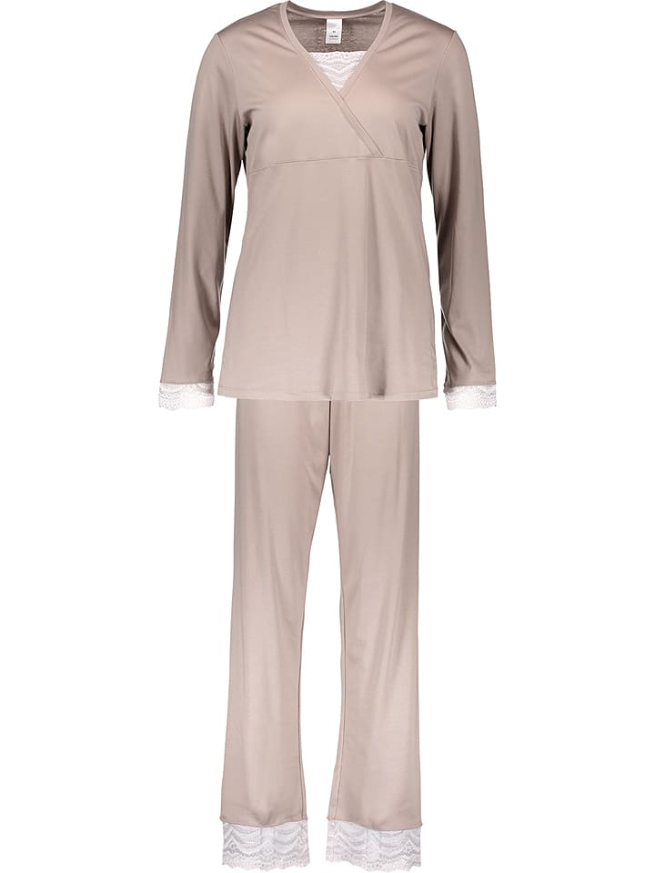 Calida Pyjama ´´Almada´´ in Beige | 33% Rabatt | Größe XS | Damenwaesche | 07613306481300