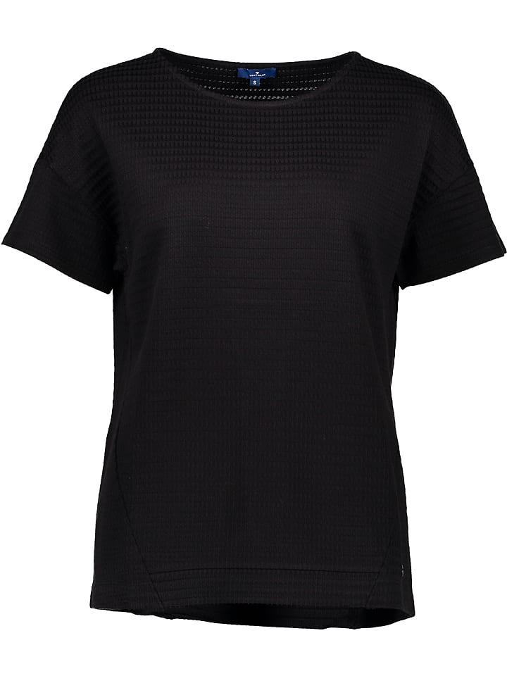 Tom Tailor Koszulka w kolorze czarnym