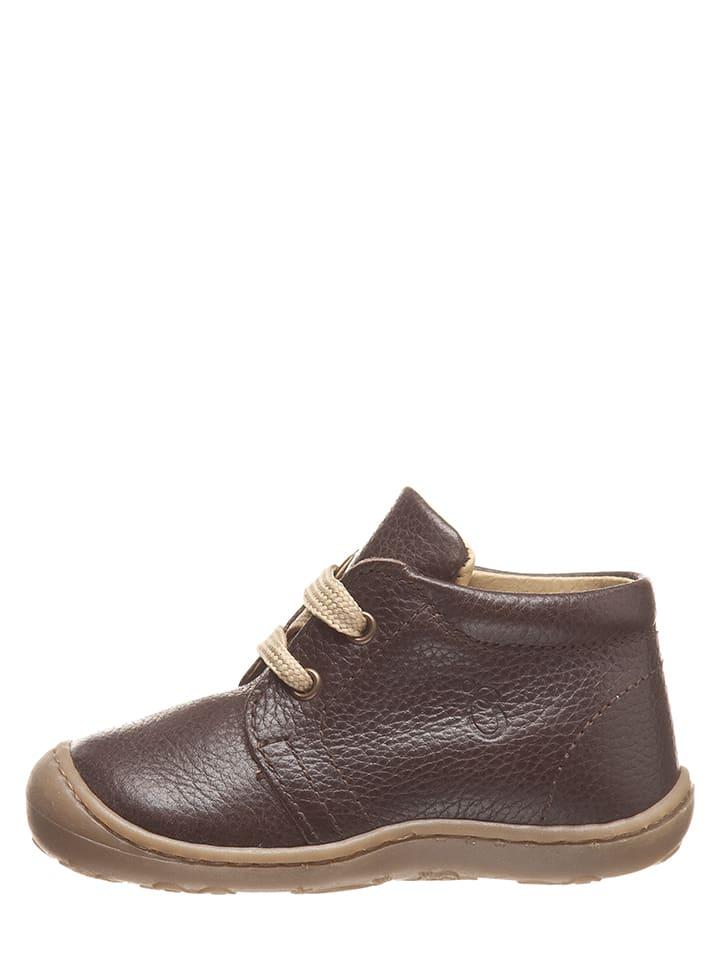 Lamino Skórzane buty niemowlęce w kolorze brązowym