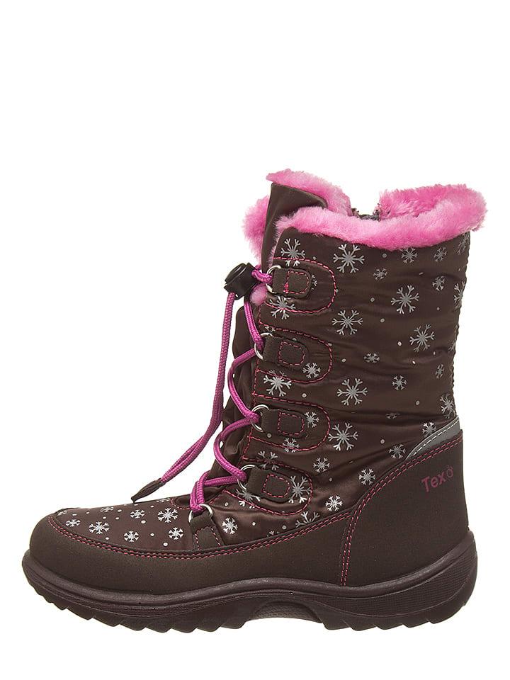 Lamino Kozaki zimowe w kolorze brązowo-różowym