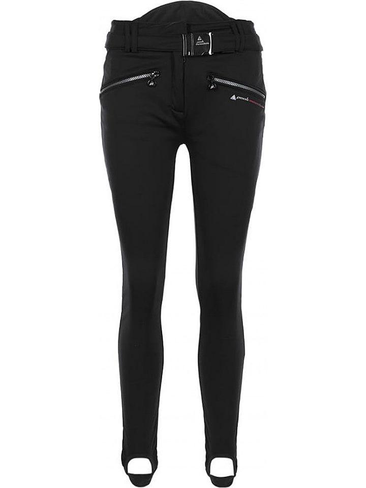 Peak Mountain Spodnie softshellowe w kolorze czarnym