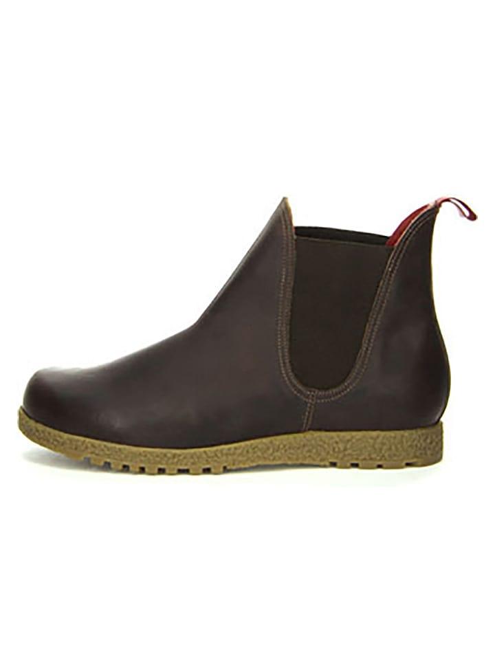 Think! - Boots chelsea en cuir - marron foncé   Outlet limango 7800016cd16a