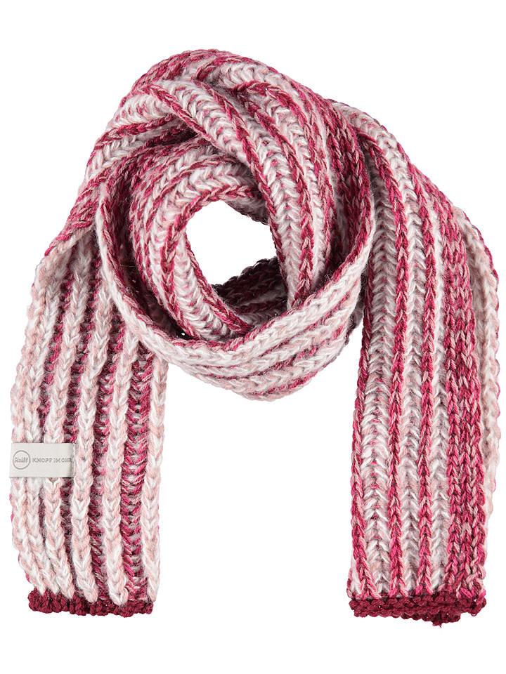Steiff Szal w kolorze różowo-białym - 105 x 15 cm