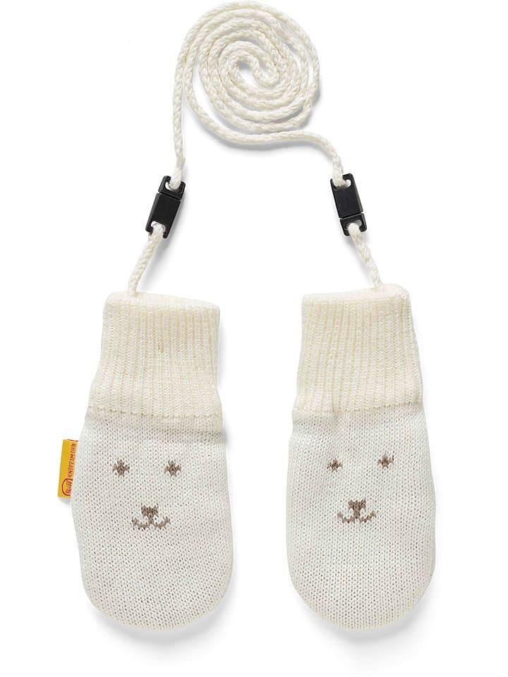 Steiff Rękawiczki w kolorze kremowym