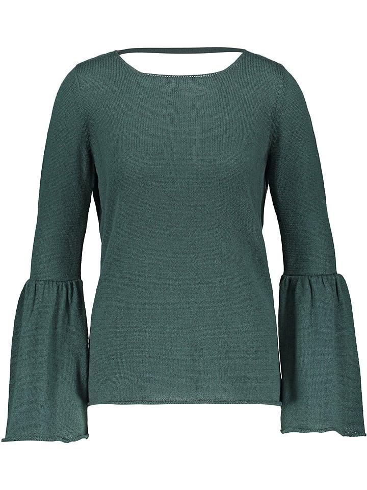 Talkabout Sweter w kolorze ciemnozielonym