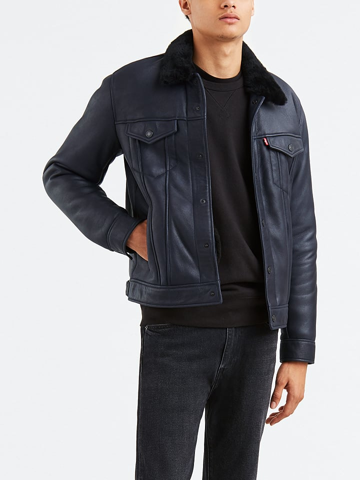 "Levi´s Leren jas ""Shearling"" zwart"