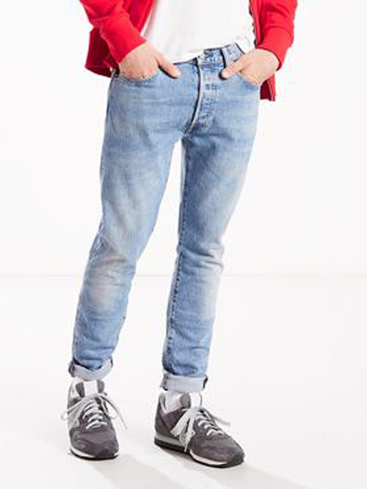 """Levi´s Dżinsy """"501®"""" - Skinny fit - w kolorze błękitnym"""