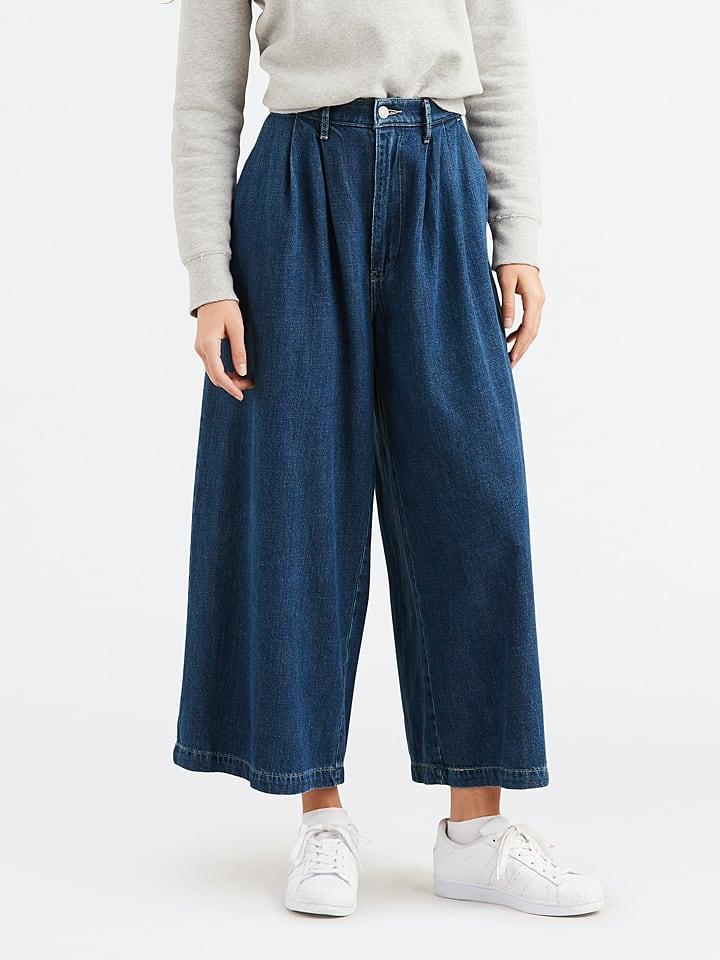Levi´s Dżinsowe kuloty - Wide-Leg - w kolorze niebieskim