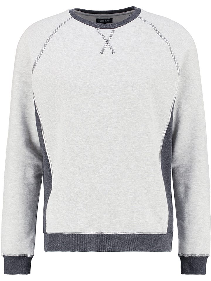YOURTURN Sweat-shirt - gris clair