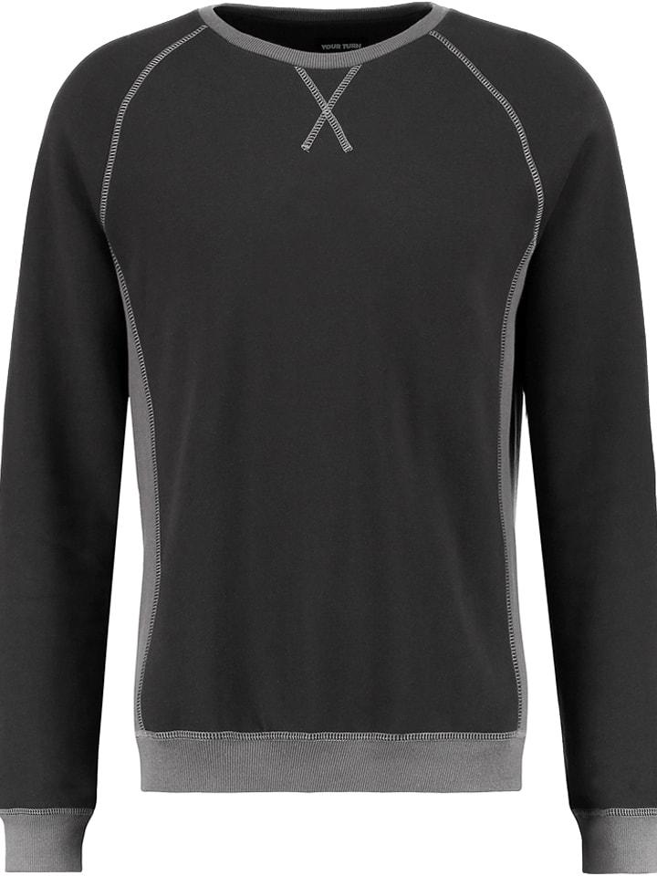 YOURTURN Bluza w kolorze czarnym