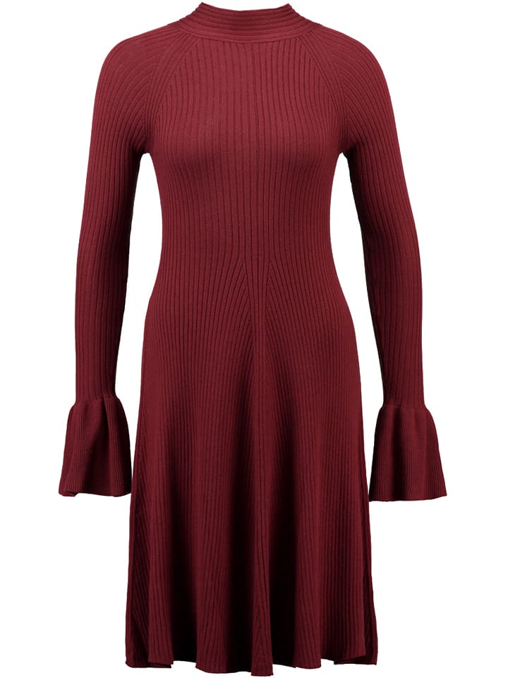 Mint & berry Sukienka w kolorze ciemnoczerwonym