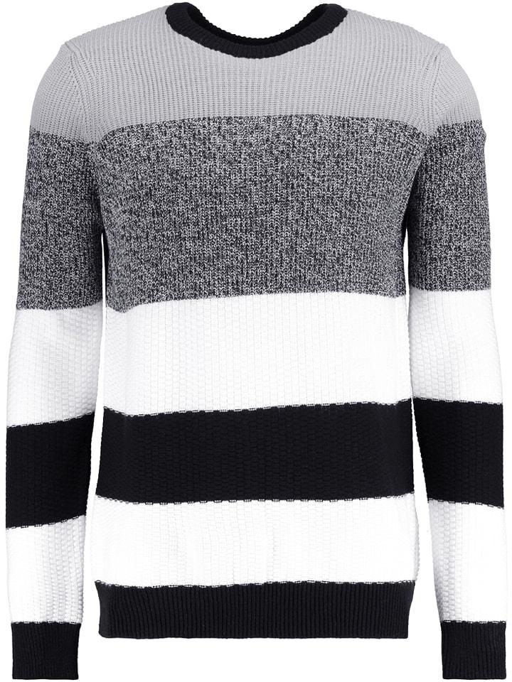 YOURTURN Pull - blanc/noir/gris