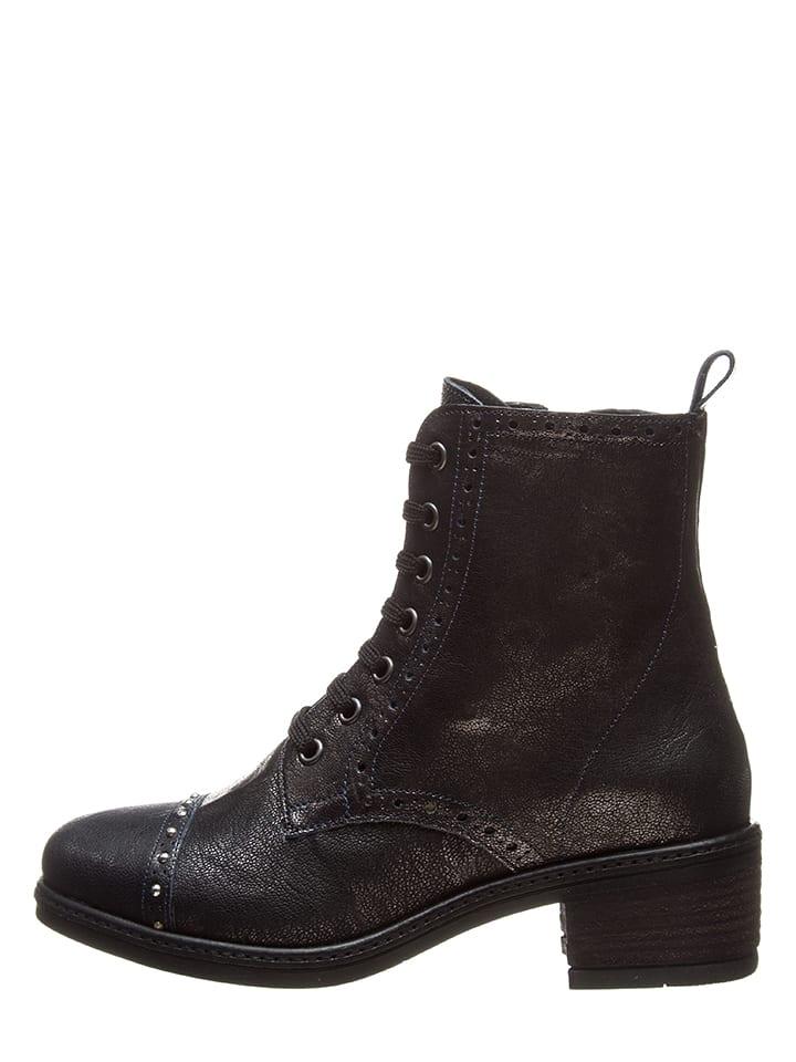 Bata Leder-Boots in Schwarz