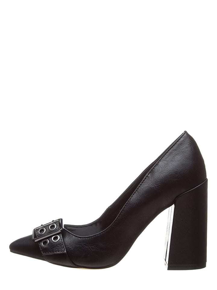 Bata Leder-Pumps in Schwarz