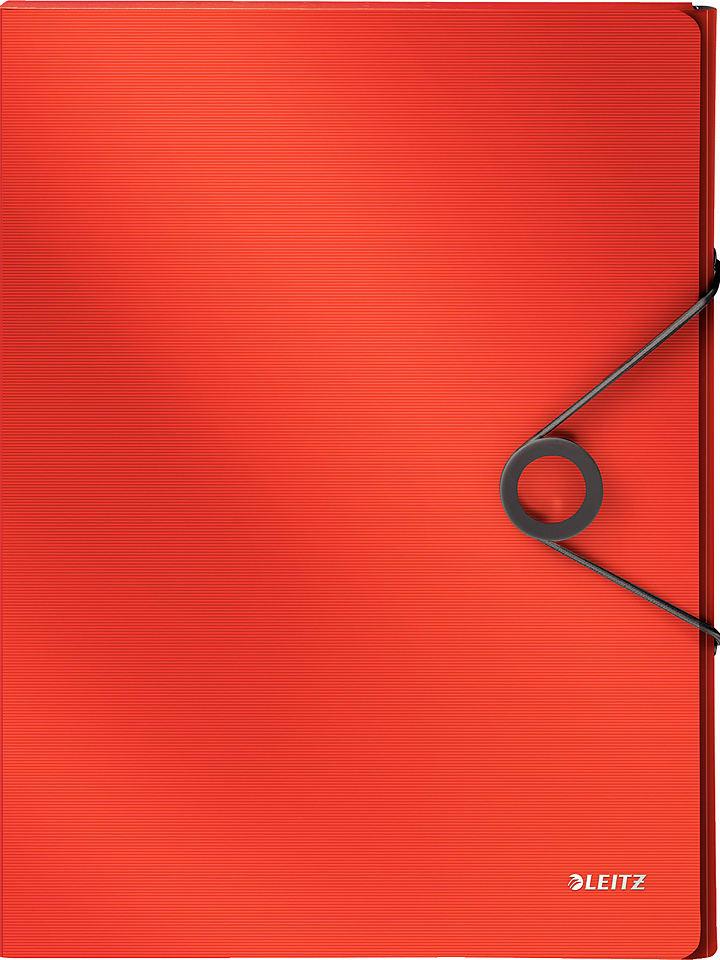 """Leitz Teczka """"Solid"""" w kolorze czerwonym - A4"""