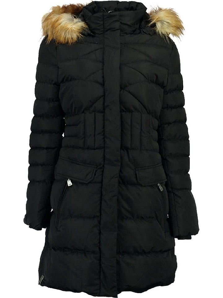 "Geographical Norway Wintermantel ""Annael"" in Schwarz"