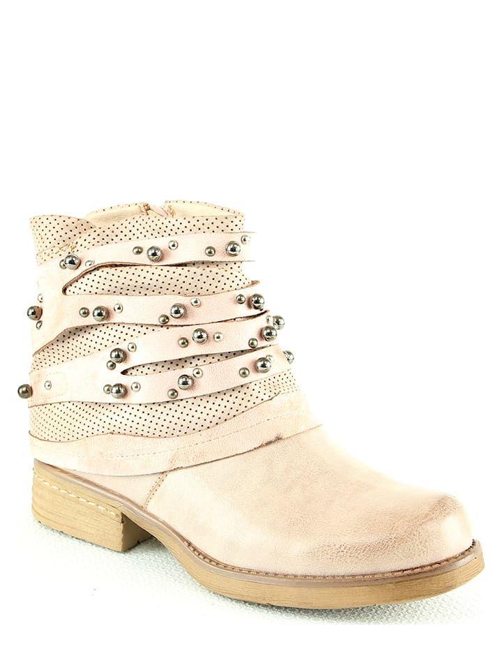 Foreverfolie Ankle-Boots in Rosa