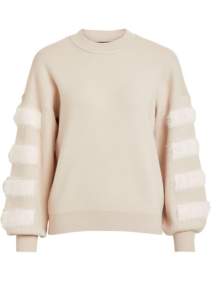 """Object Sweter """"Lilya"""" w kolorze beżowym"""